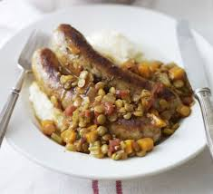 Italian sausage stew with rosemary garlic mash