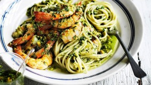 Linguine-with-prawns