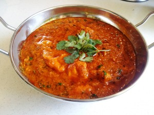 Chilli chicken balti